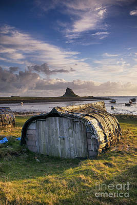 Herring Boat Hut Lindisfarne Hdr Poster