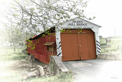 Herr's Mill Historic Bridge Poster by Dyle   Warren