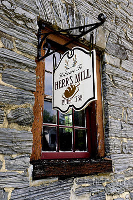 Herrs Mill - Lancaster Poster by Paul W Faust -  Impressions of Light