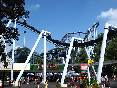 Hershey Park - Great Bear Roller Coaster - 121210 Poster by DC Photographer