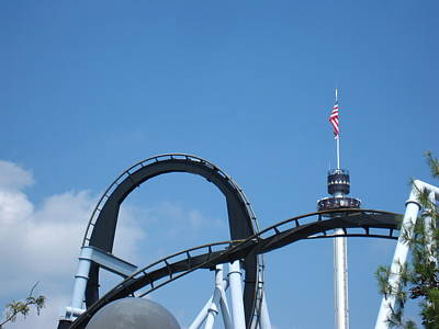 Hershey Park - Great Bear Roller Coaster - 121211 Poster by DC Photographer