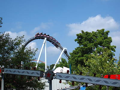 Hershey Park - Great Bear Roller Coaster - 121214 Poster by DC Photographer