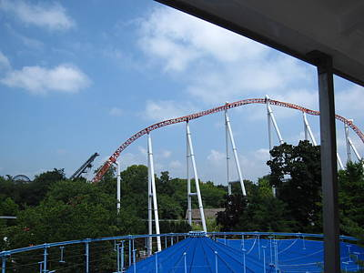 Hershey Park - Great Bear Roller Coaster - 12123 Poster by DC Photographer
