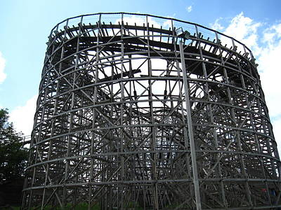 Hershey Park - Wildcat Roller Coaster - 12122 Poster by DC Photographer