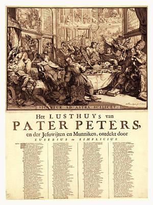 Het Lusthuys Van Pater Peters, En De Jesuwijten En Munniken Poster