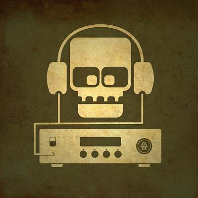 Hi Fi Skull Poster by Milton Thompson