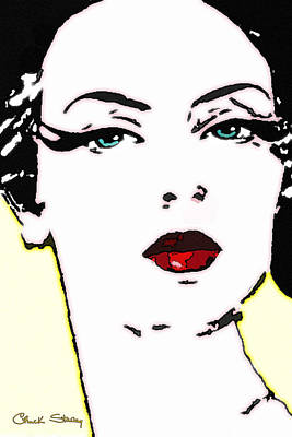 Hi Contrast Lady Poster by Chuck Staley