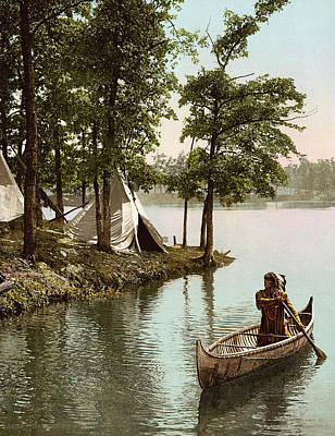 Hiawatha's Arrival Poster by Underwood Archives