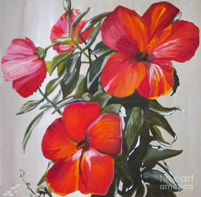 Hibiscus Poster by Judy Morris