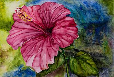 Hibiscus Study Poster