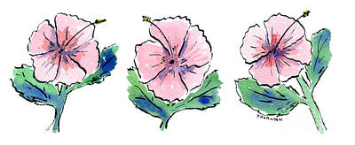 Hibiscus Trio Poster