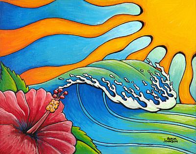 Hibiscus Wave Poster
