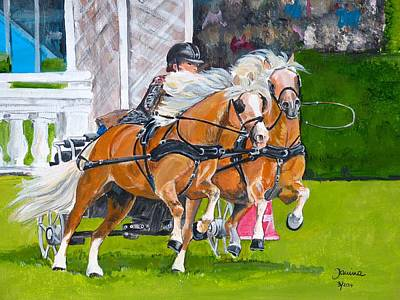 Poster featuring the painting Hickstead  by Janina  Suuronen