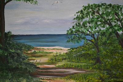 Poster featuring the painting Hidden Beach by Debbie Baker