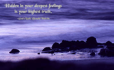 Hidden In Your Deepest Feelings Poster by Mike Flynn