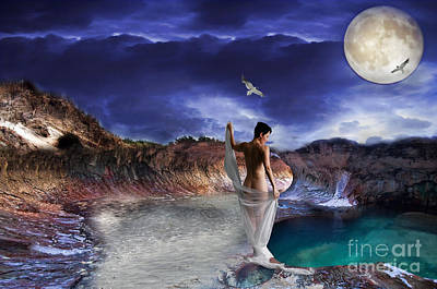 Poster featuring the digital art Hidden River by Liane Wright