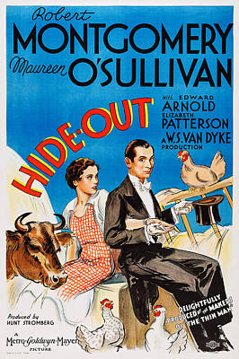 Hide-out, From Left Maureen Osullivan Poster