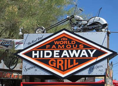 Cave Creek Hideaway Grill Poster by Jim Romo