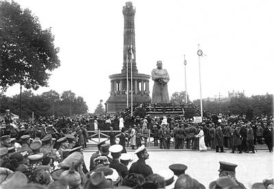 Hidenburg Statue Unveiling Poster by Underwood Archives