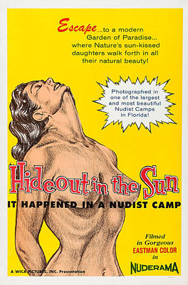 Hideout In The Sun, Nudist Feature Poster by Everett