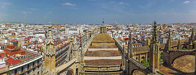 High Angle View Of A Cathedral Poster by Panoramic Images