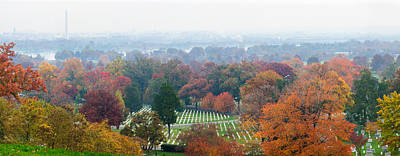 High Angle View Of A Cemetery Poster by Panoramic Images