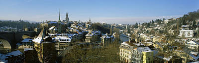 High Angle View Of A City, Berne Poster by Panoramic Images