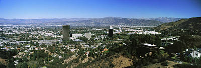 High Angle View Of A City, Burbank, San Poster