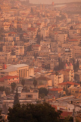 High Angle View Of A City, Nazareth Poster