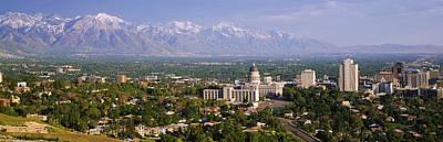 High Angle View Of A City, Salt Lake Poster