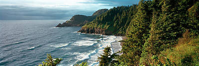 High Angle View Of A Coastline, Heceta Poster by Panoramic Images