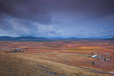 High Angle View Of A Field, Consuegra Poster