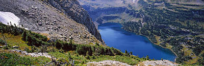 High Angle View Of A Lake, Hidden Lake Poster