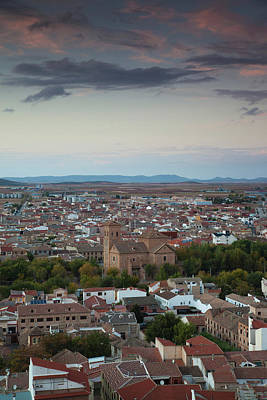 High Angle View Of A Town, Consuegra Poster
