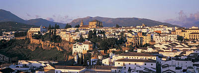 High Angle View Of A Town, Ronda Poster by Panoramic Images