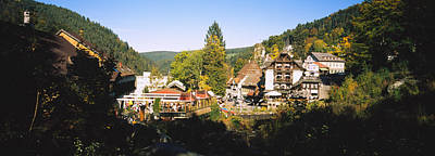 High Angle View Of A Town, Triberg Im Poster by Panoramic Images