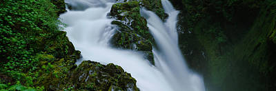 High Angle View Of A Waterfall, Sol Duc Poster by Panoramic Images