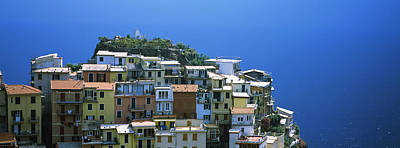 High Angle View Of Buildings, Manarola Poster by Panoramic Images