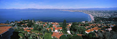 High Angle View Of City, Morro Bay, San Poster