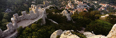 High Angle View Of Ruins Of A Castle Poster by Panoramic Images