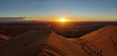 High Angle View Of Sahara Desert Poster