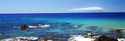 High Angle View Of Surf At The Coast Poster by Panoramic Images