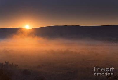 High Desert Morning Mist Poster