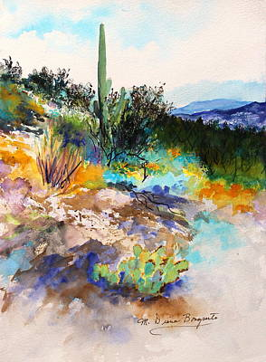 High Desert Scene 2 Poster by M Diane Bonaparte