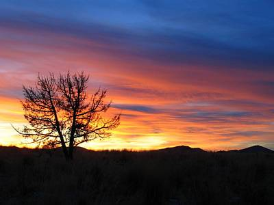 Poster featuring the photograph High Desert Sunset by Kevin Desrosiers
