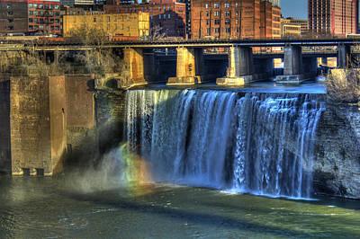 High Falls Rainbow Poster by Tim Buisman