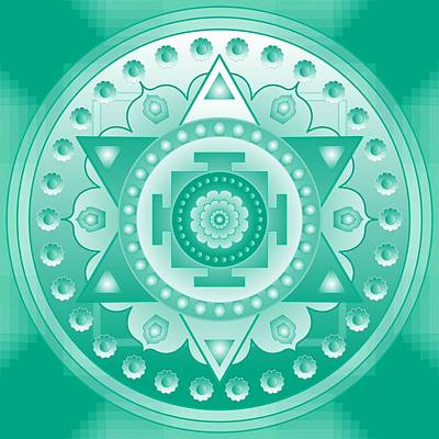 High Heart Chakra Mandala Poster by Sarah  Niebank
