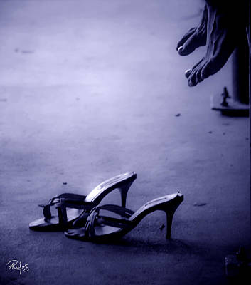 High Heel Shoes Waiting In The Moonlight Poster by Allan Rufus