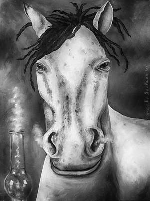 High Horse Edit 4 Poster by Leah Saulnier The Painting Maniac