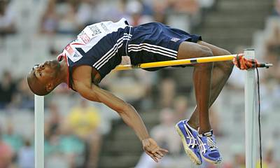 High-jumper Poster by Science Photo Library